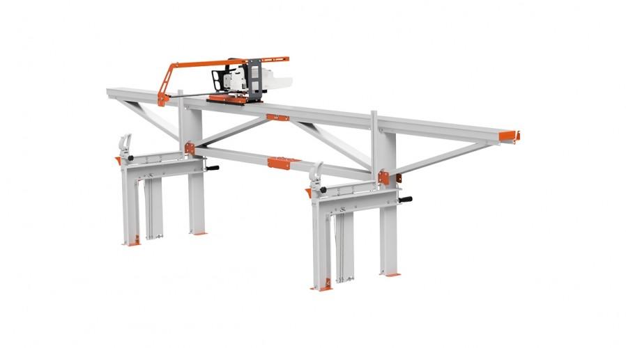 F2 Chain Sawmill (4 m) with MS661, basic crank feeding