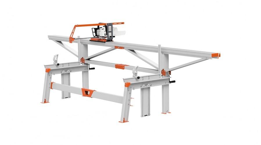 F2+ Chain Sawmill (4 m) with MS661, basic crank feeding