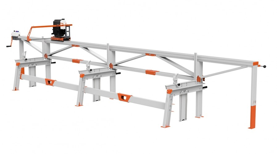 F2+ Chain Sawmill (6 m) with ES8, manual remote feeding