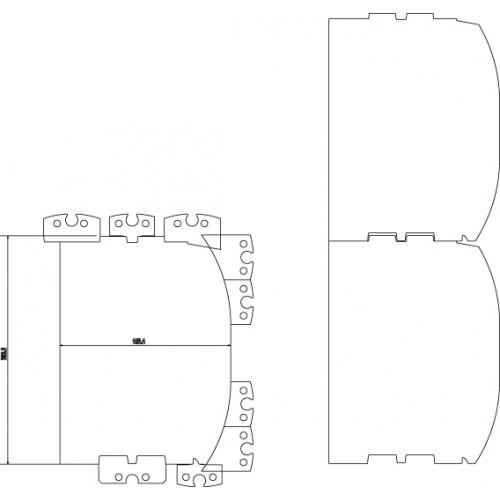 Knife Set, for LM410, 6''-8'' (150-200 mm), D-Log, incl. Gibs